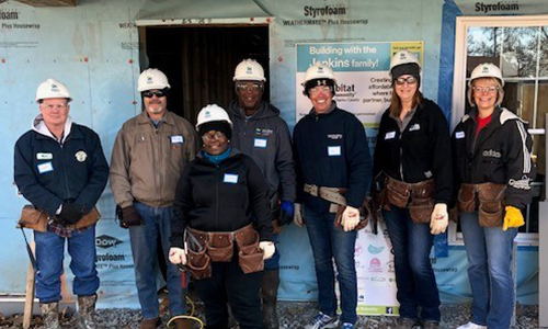 Cuivre River Employees volunteering with Habitat for Humanity