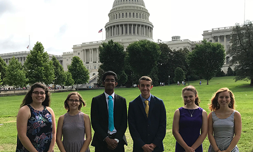 Youth Tour participants visit Washington D.C. in 2018